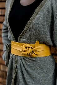Ada Wrap Belt in Mustard