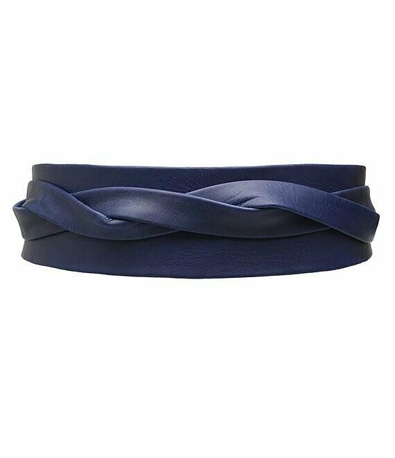 Ada Wrap Belt in Marine Blue