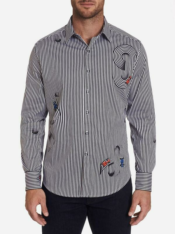 Robert Graham Chicane Sport Shirt In Black