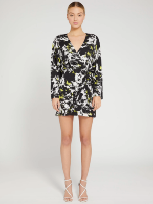 Alice & Olivia Ophelia Asymmetrical Mini Dress