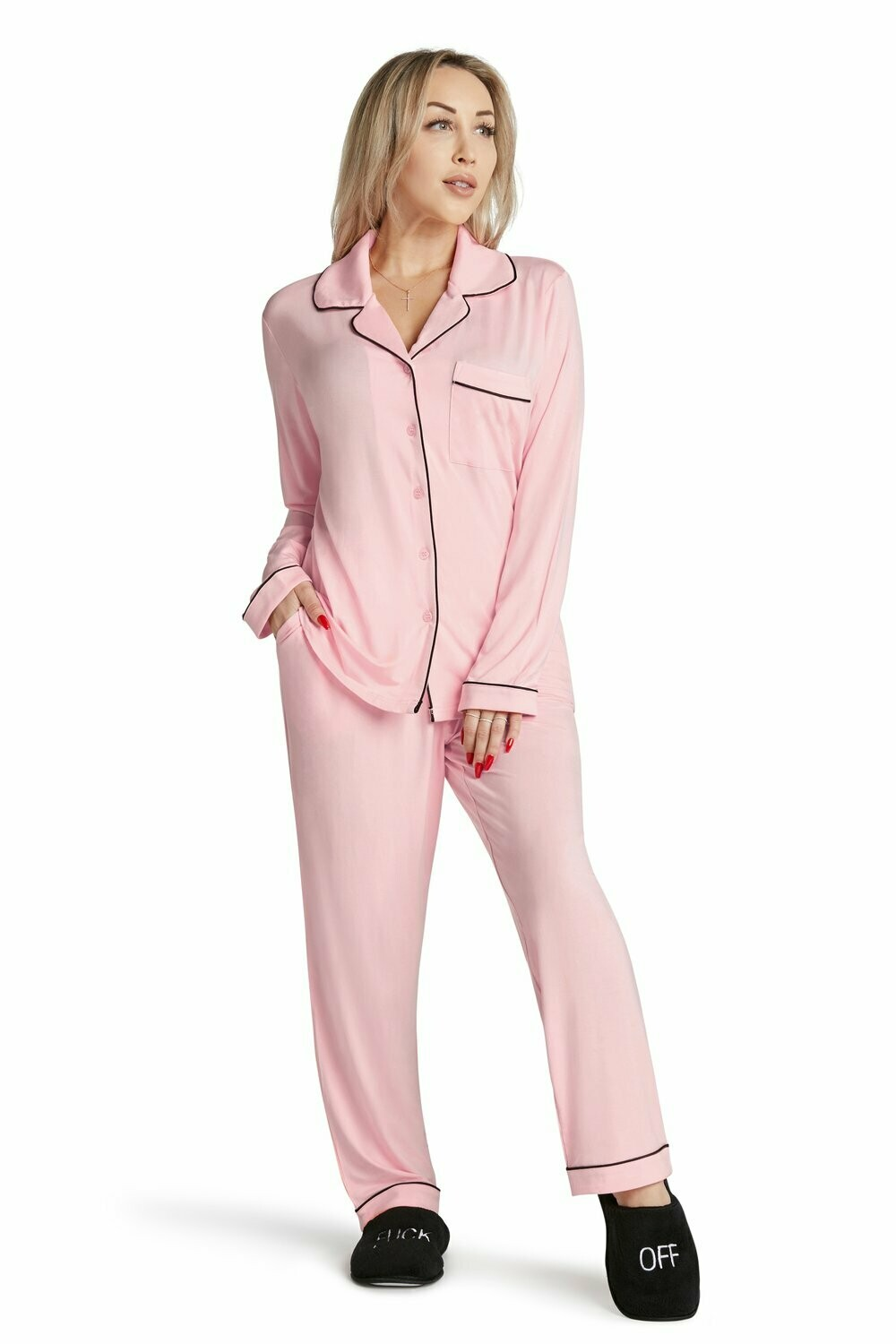 LA Trading Co Lightweight Pajama Set-Fluent French