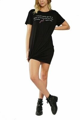 LA Trading Co T-Shirt Dress- Private Jet