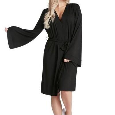 LA Trading Co Lightweight Robe- Dress Like Coco - Black