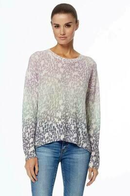360 Cashmere Izzy Dip Dye Leopard Sweater