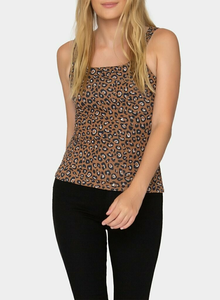 Tart Collections Larson Top - Warm Leopard