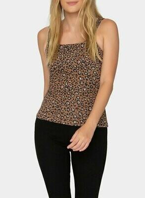 Tart Collections Larson Top - Warm Leopard