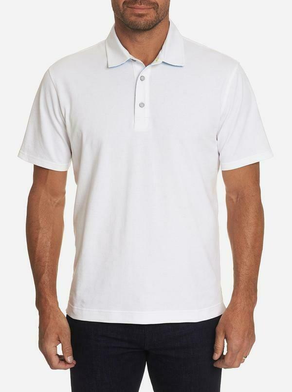 Robert Graham Dynamic Polo Shirt in White