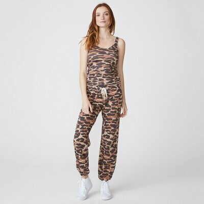 Monrow Animal Camo Narrow Rib Tank