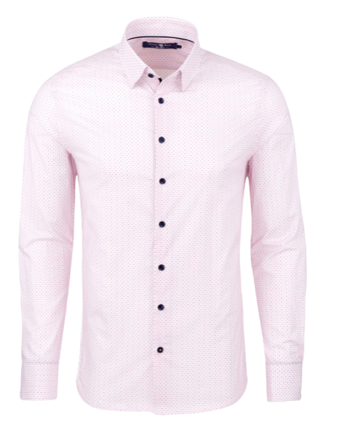 Stone Rose Pink Geometric Print Long Sleeve Shirt