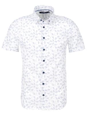 Stone Rose White Novelty Print Short Sleeve Shirt