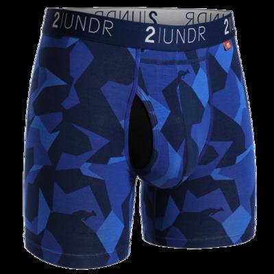 2UNDR Swing Shift - 6IN BOXER BRIEF In Blue Camo