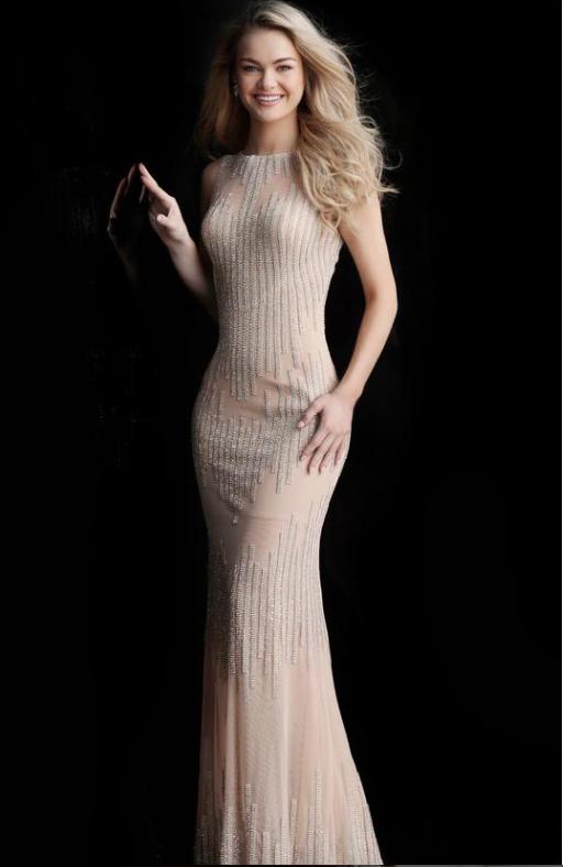 Jovani Fitted Jewel Sheath Evening Dress