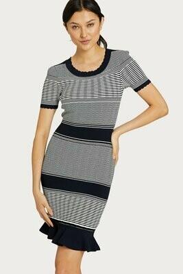Milly Striped Wave Dress