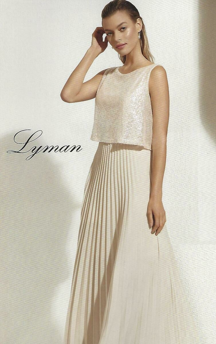 Frank Lyman Champagne Knit Gown
