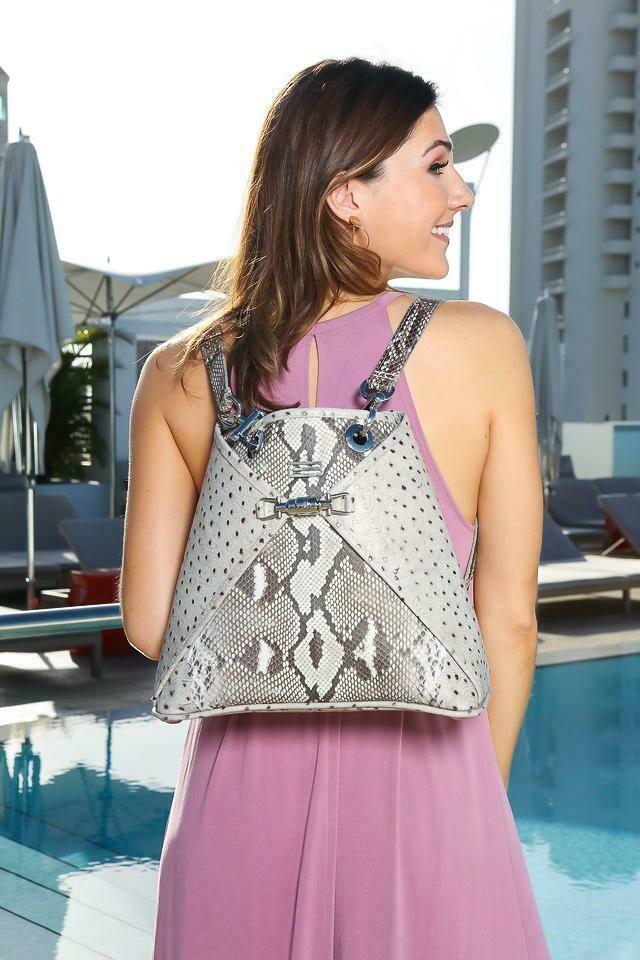 BSWANKY Sophie Python Handbag