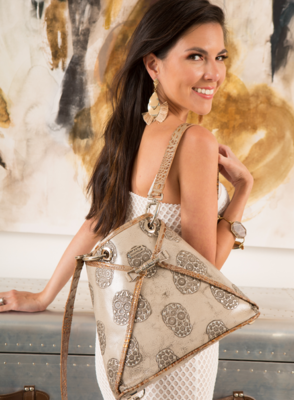 BSWANKY Sophie Classic Two-toned Skulls Handbag