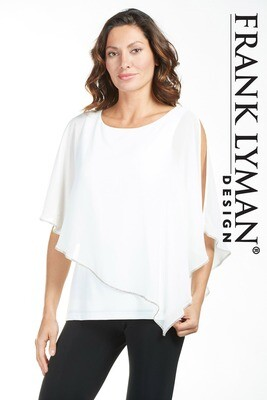 Frank Lyman Woven Top In Off White