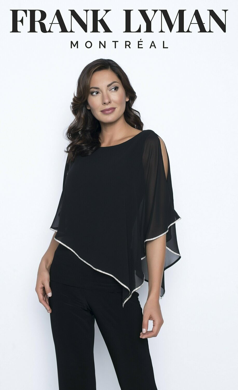 Frank Lyman Woven Top In Black