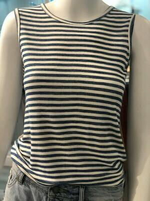 Jackie Z S/S Striped Shirt In Blue/White
