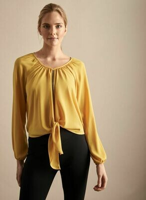 Frank Lyman Crystal Detailed Blouse in Marigold
