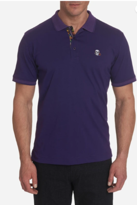 Robert Graham Easton Polo Shirt in Purple