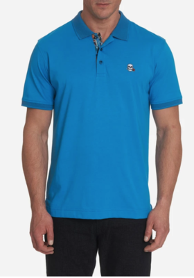 Robert Graham Easton Polo Shirt In Blue
