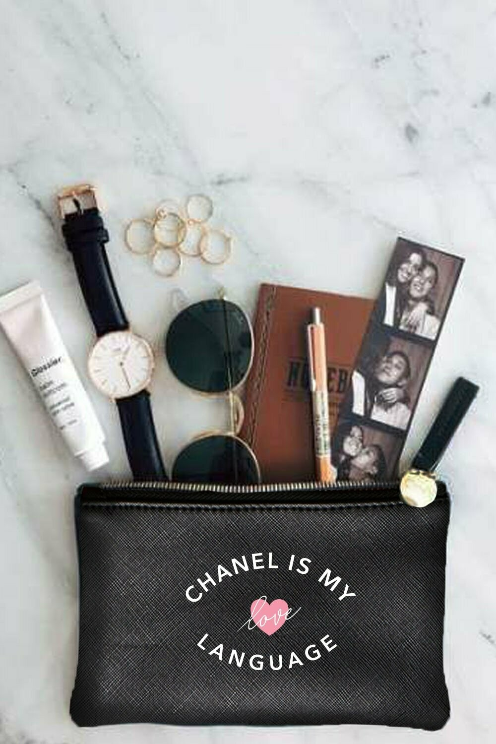 LA Trading Company Chanel is my  love language Pouch