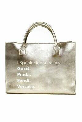 LA Trading Company Fluent Italian Modern Vegan Tote