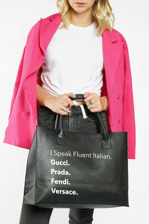 LA Trading Company Fluent Italian Vegan Tote in Black
