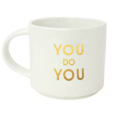 Chez Gagne' You Do You Metallic Gold Mug