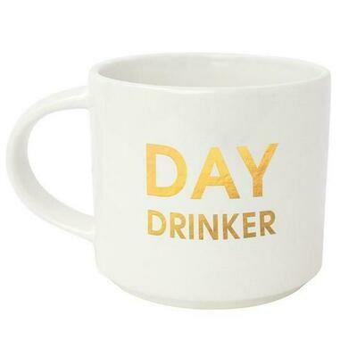 Chez Gagne' Day Drinker Gold Metallic Mug