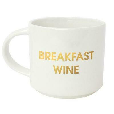 Chez Gagne' Breakfast Wine Gold Metallic Mug
