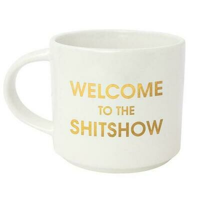 Chez Gagne' Welcome To The Shit Show Metallic Gold Mug