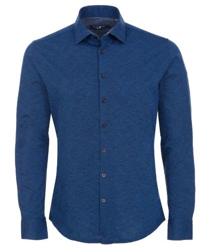 Stone Rose Navy Flame Knit Long Sleeve Shirt