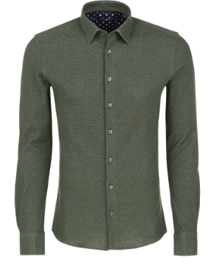 Stone Rose Olive Oxford Knit Long Sleeve Shirt