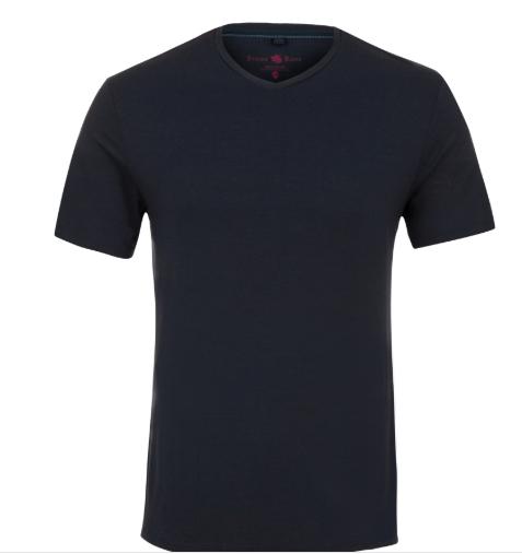 Stone Rose Navy V-Neck Modal T-Shirt