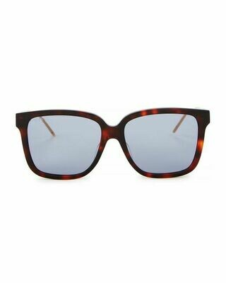 Gucci Havana Sunglasses With Blue Lens