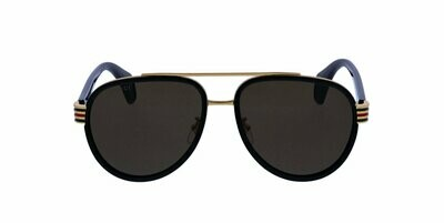 Gucci Men's Aviators in Havana Brown and Gold With Grey Lens