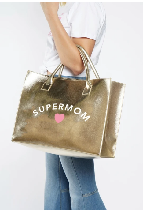 "LA Trading Company Modern ""Super Mom"" Tote in Gold"
