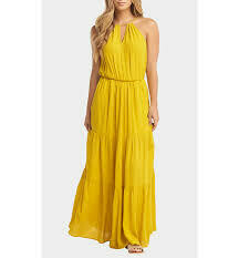 Tart Collections Johana Maxi Dress in Lemon Curry