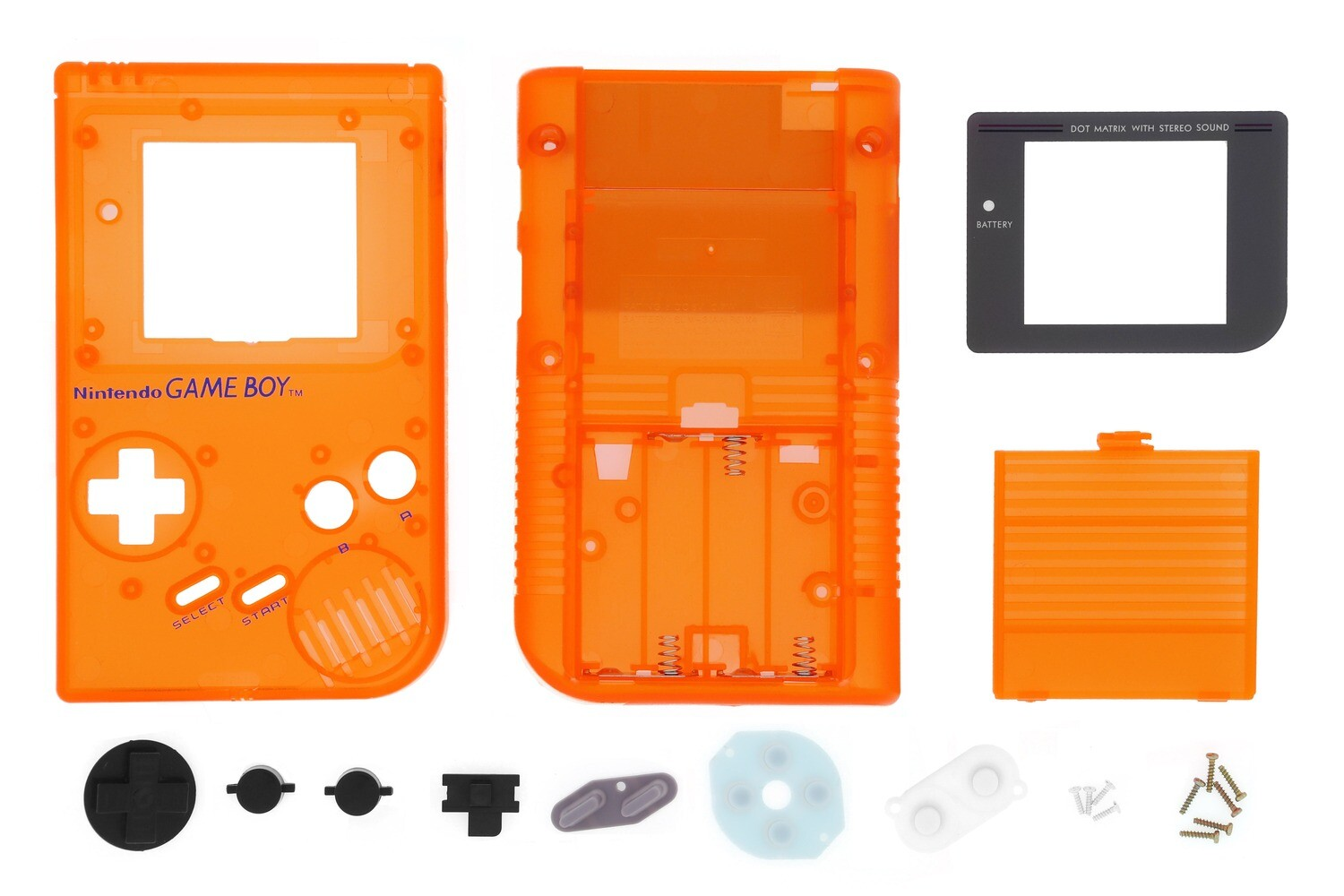 Game Boy Original Shell Kit (Clear Orange)