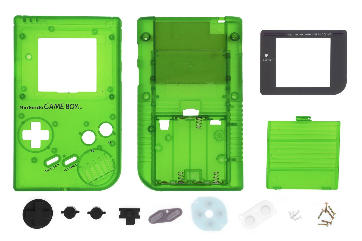 Game Boy Original Shell Kit (Clear Green)