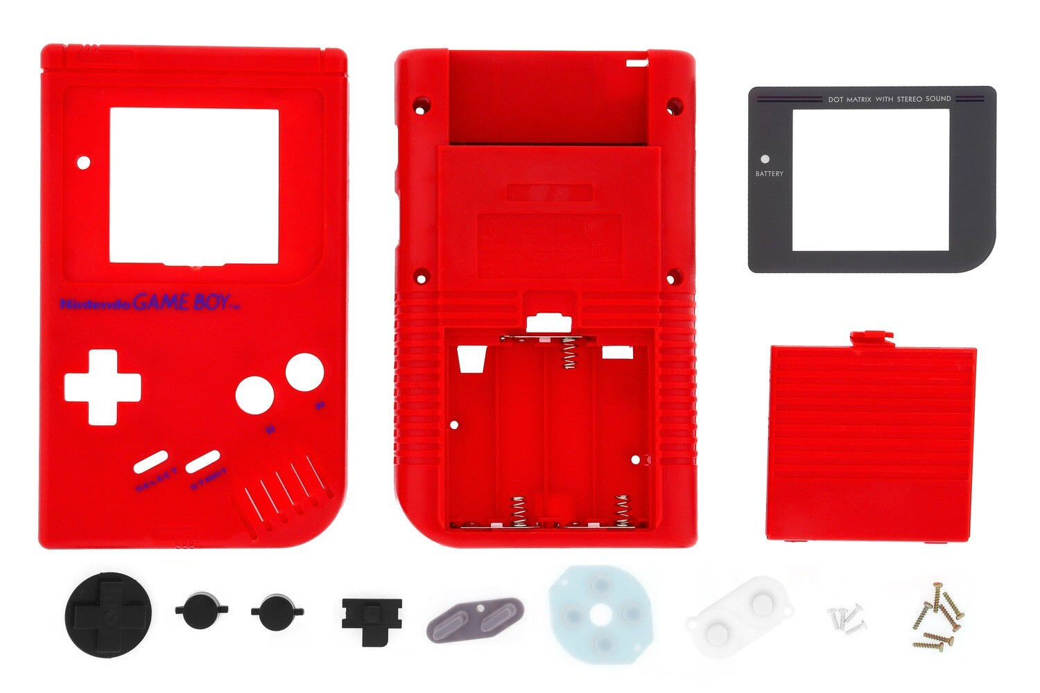 Game Boy Original Shell Kit (Red)