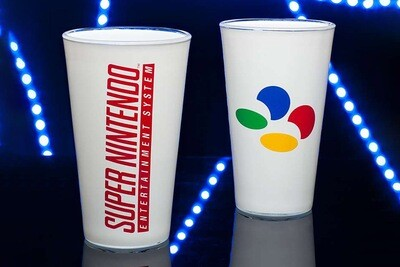Nintendo SNES Drinks Glass