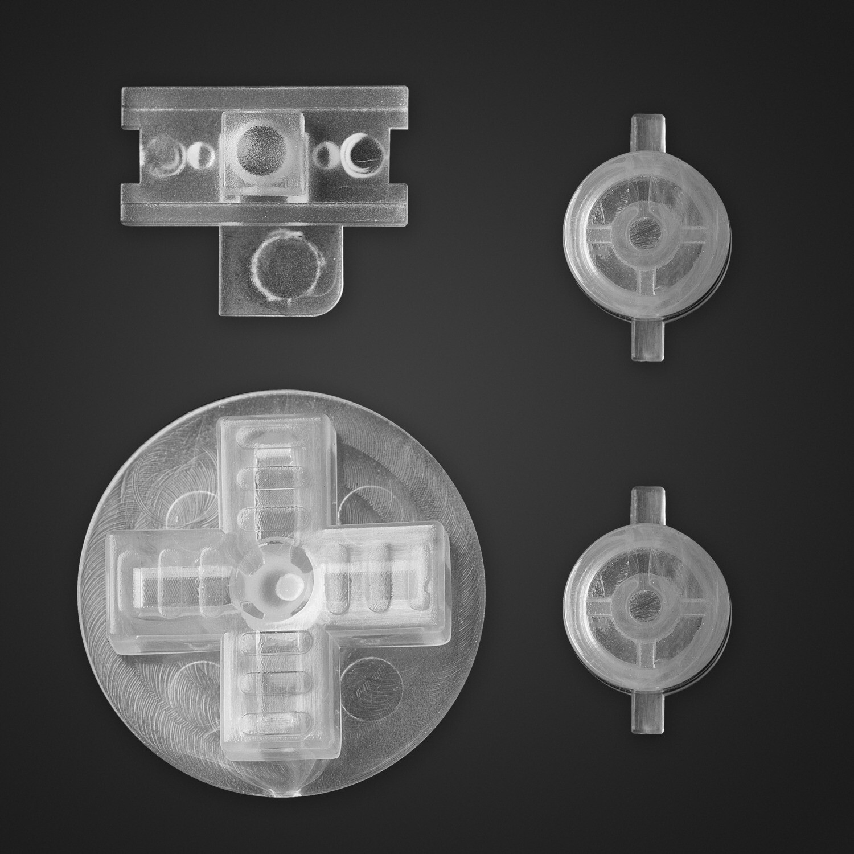 Game Boy Original Buttons (Clear)