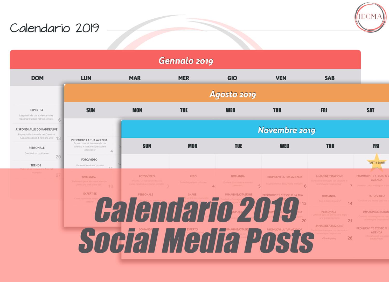 Calendario Social.Calendario Social Media