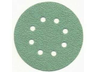 Шлиф. диск /зелёный/ d-125, Р- 80 (8 отв.) 100 шт./упак]