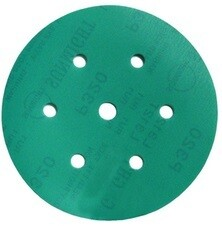 Шлиф. диск /зелёный/ d-150, Р- 180 (7 отв.) [100 шт./упак]