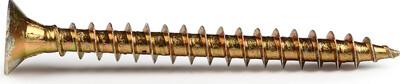 Саморез 5,0×80 мм - жёлтый/универсальный (2000 шт./ящик) - 200шт./упак.