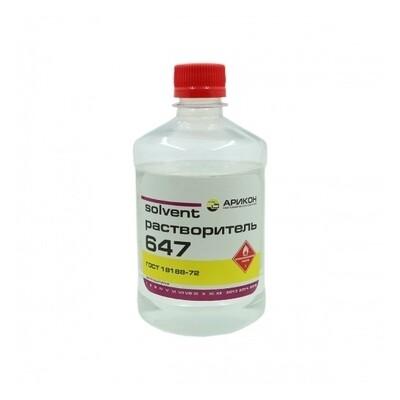 Растворитель 647, Бутылка ПЭТ - 1 л. (АРИКОН)